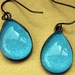 teardrop earrings - teal aqua