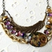 floral one of a kind bib necklace