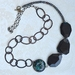 chunky black statement necklace