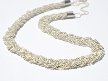 long braided chain necklace
