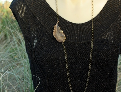 autumn leaf chain necklace