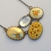 yellow vintage necklace