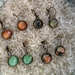 greens and rust -  lever back drop earring