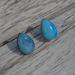 teardrop studs -  blue agate