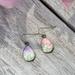 teardrop earrings - pink and purple floral