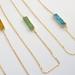 druzy bar pendant - 2 colors