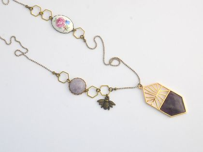 amethyst and vintage collection pendant