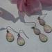 rose quartz floral double teardrop earring