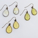 teardrop earrings - yellows