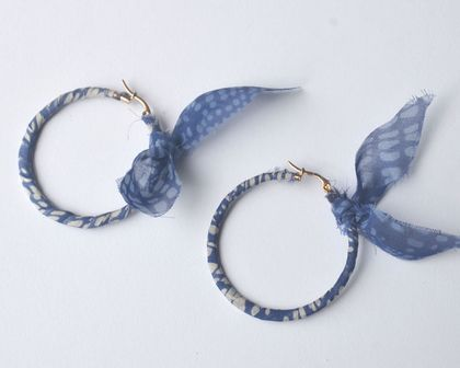 fabric wrapped hoop earrings