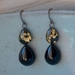 black onxy double teardrop earring