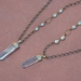 crystal bullet with cubic zirconia link chain drops