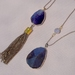 deep purple agate pendant ~ 2 to choose from