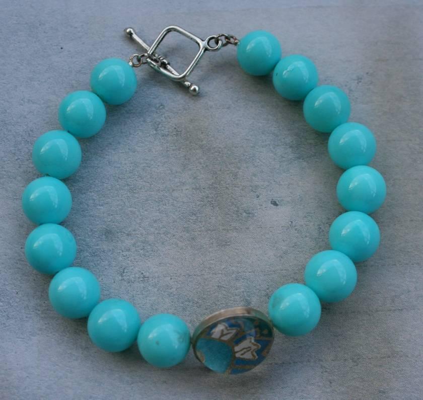 turquoise paisley bracelet