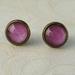 plum stud earrings