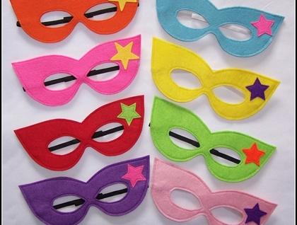 Superhero girl dress up mask