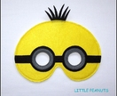Felt Minion Dress Up Mask
