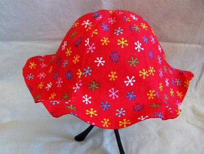 Baby & Toddler Fluted Sunhat - Snowflakes