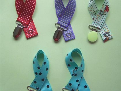Baby Pacifier Clip - Dotty Selection