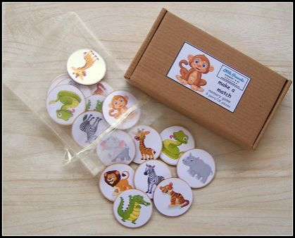 Make a Match Memory Game - Animals