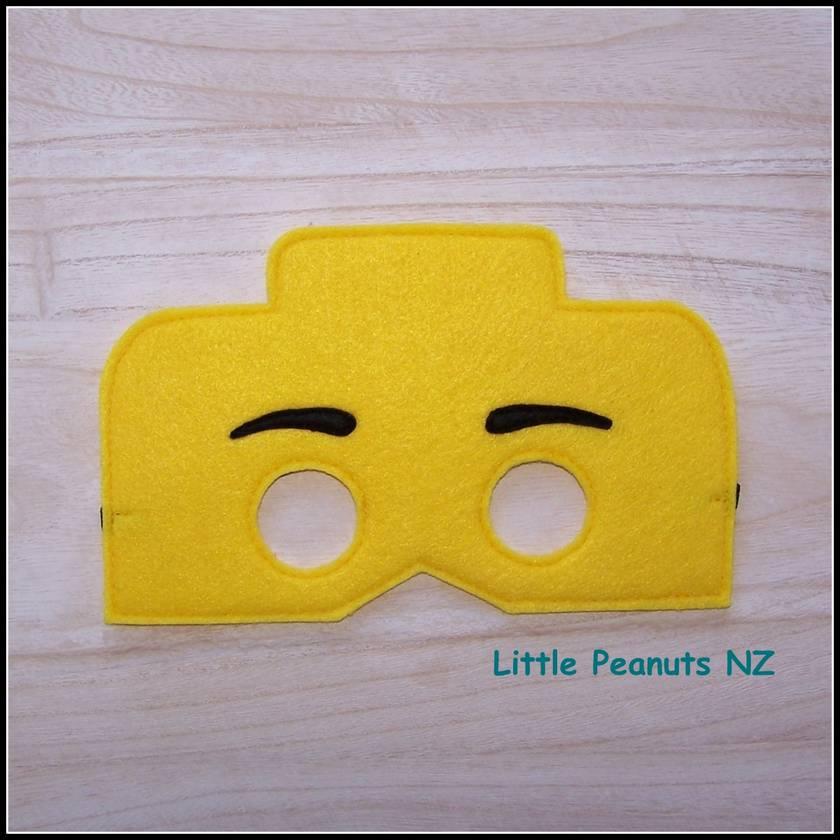 Yellow Brickhead Kid's Mask