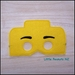 Yellow Brickhead Kid's Mask