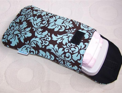 Grab 'n' Go Nappy Clutch - Spa Damask