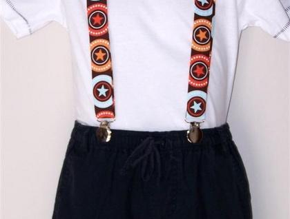 Child's Suspenders - Bullseye 2-6 years