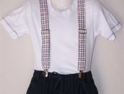 Child's Suspenders - Check, Infant size