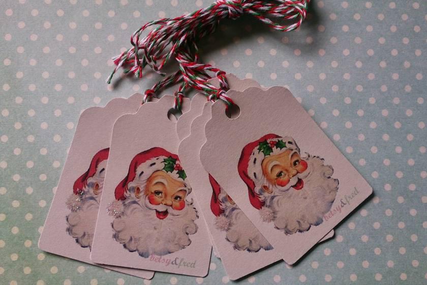 Gift Tags - Vintage Father Christmas