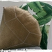 Golden Diamond Cushion - Palm Leaf Backed