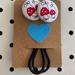 Cute fabric button hair-ties