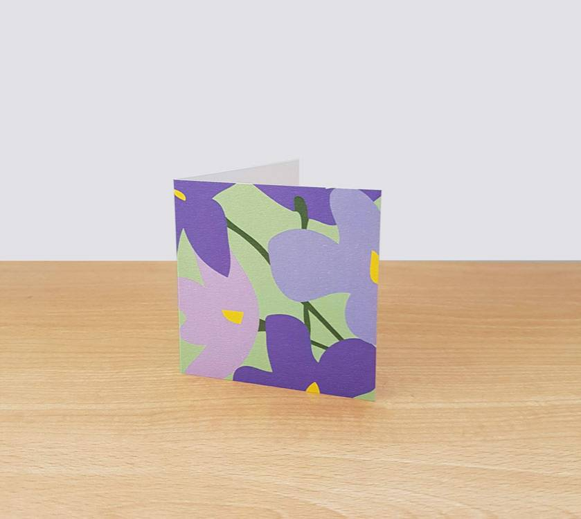 African Violet on Green Gift Card