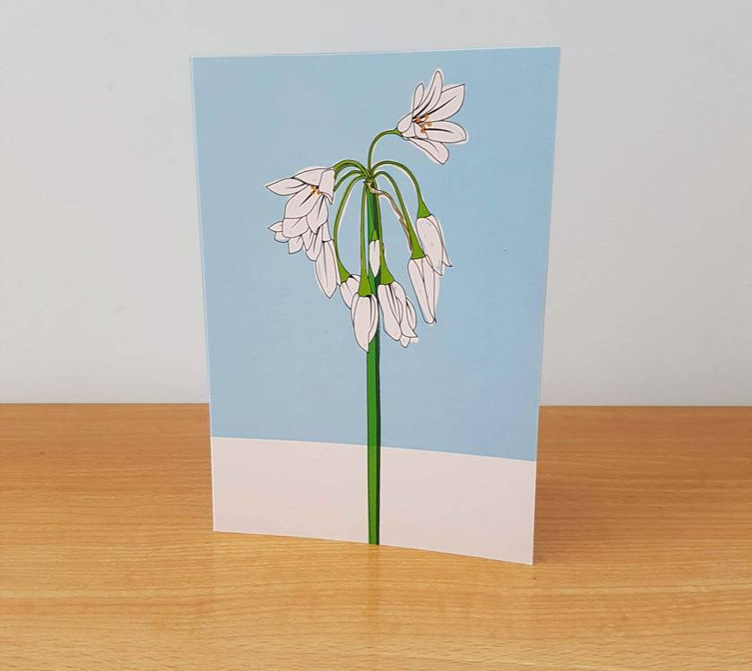 Onion Weed Greeting Card