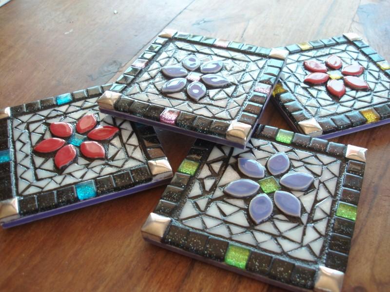 Colouful Mosaic Coasters | Felt