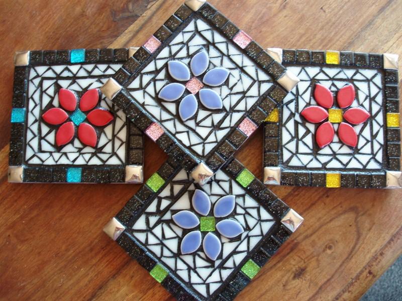 Colouful Mosaic Coasters Felt