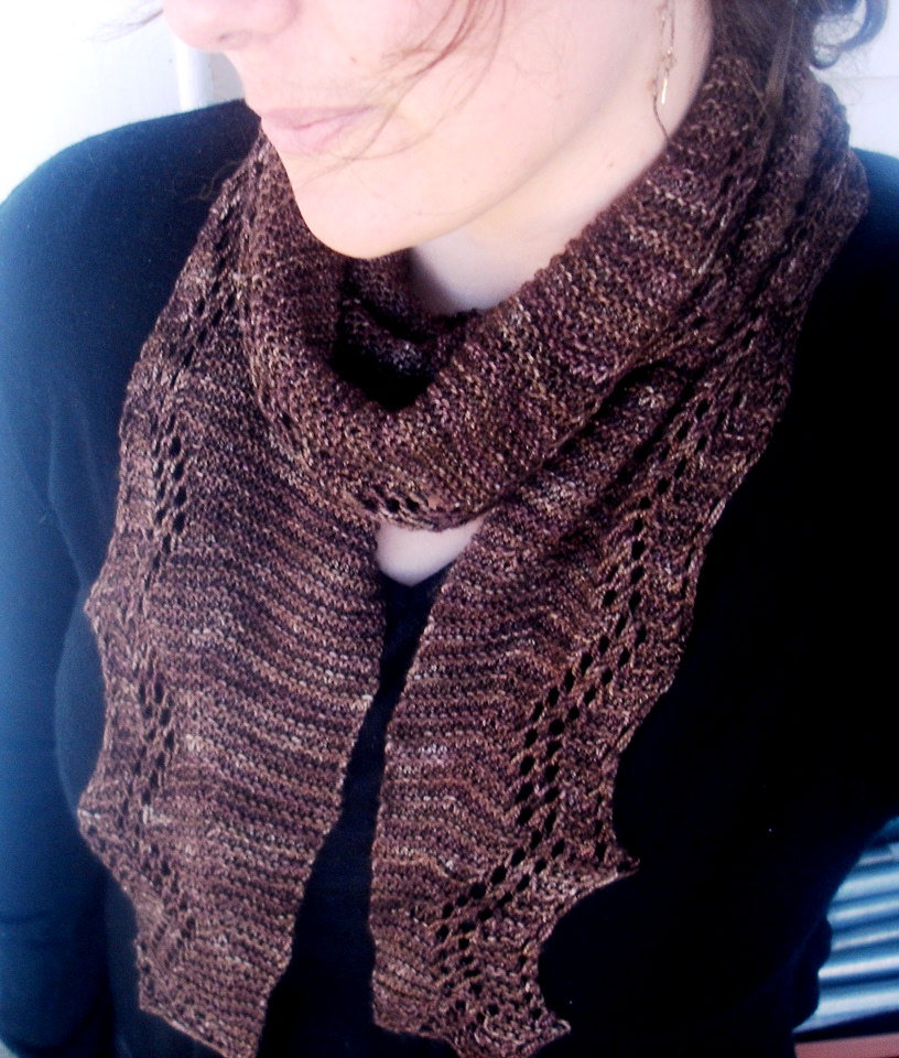 Knitting Shawl Design : Quot faultline shawlette shawl knitting pattern felt