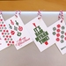 Letterpress Xmas Gift Tags – Set of 6