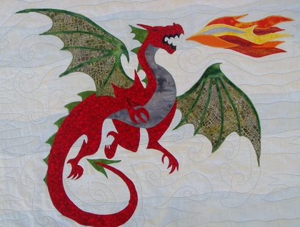 Ravelry: Winged Dragon Applique pattern by Amelia Beebe
