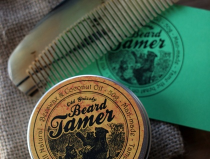 Beard Wax and Horn Comb Gift pack