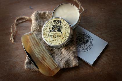 Moustache Wax and Horn Comb Gift Pack