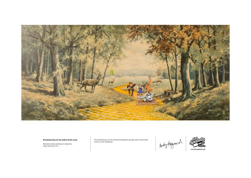 Breakdancing on the yellow brick road - Print - A4