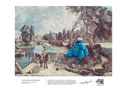 Lord Cookie Monster awaits his shipment - Print - A4
