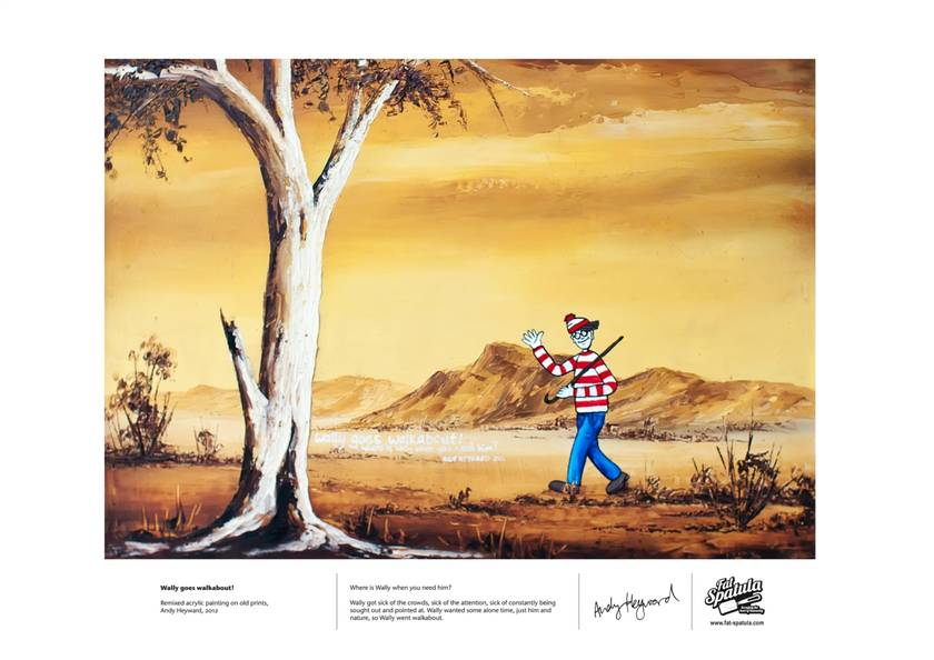 Wally Goes Walkabout - Print - A3