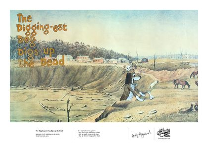 The Digging-est Dog digs up the Dead - Print - A4