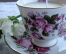 Vintage teacup Soy Candle - Queen Anne Duo