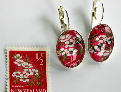 Manuka Stamp Earring Silver Plated