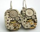 Industrial Beauty -  watch movement earrings