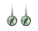 Tui Postage Stamp Earring Elegant Drop Oval or Round
