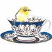 Tea Cup and Bird Print 'Victorian Splendor' limited edition